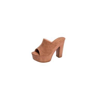 Sapatos Moda Feminina de Verão com Solado Grosso Sapatos Femininos de Salto Alto Fish Mouth Slipper cool 13918
