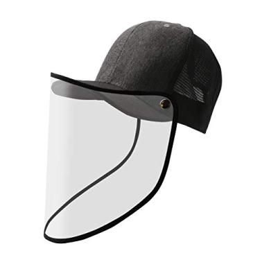 Boné com visor face shield e tela grafite/preto
