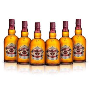 Chivas Regal Whisky 12 Anos Escocês Com Lata - 750ml 6 UNIDADES