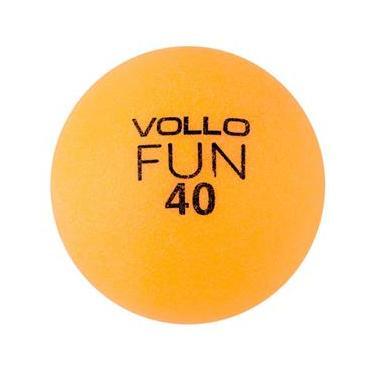 Bola Tênis de Mesa Fun 40 Table Tennis com 100 Unidades Laranja - Vollo VT609
