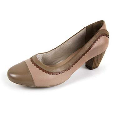 Sapato Scarpin Salto Grosso Linha Social Elegance Miuzzi - 3505 - Rosê