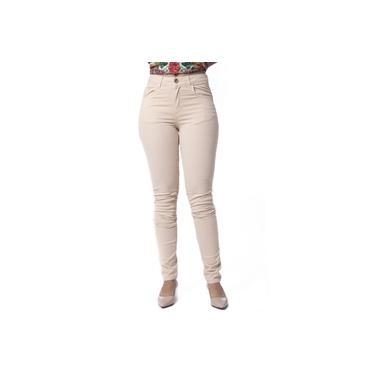 Calça Feminina Sarja Jeans Bege Anselmi
