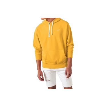 Moletom Hollister Masculino Canguru Icon Amarelo