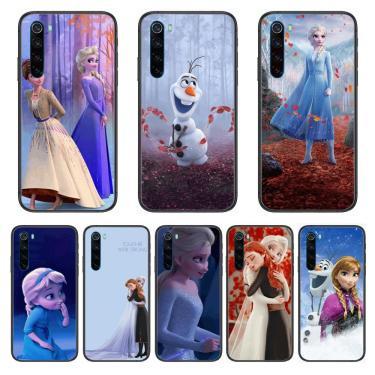 Disney congelado princesa elsa anna dos desenhos animados caso de telefone para xiaomi redmi nota 9s