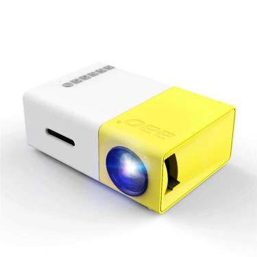 Projetor YG-300 LCD Mini Suporte 1080P Portátil Cinema em Casa Projetor LED Banggood