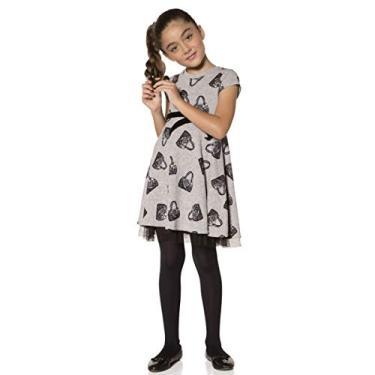 Meia calça infantil fio 40 menina Kit 3 Lobinha Lupo ref.2530
