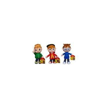 Imagem de Coleção 3 Bonecos De Pelúcia Pequenos Alvin E Os Esquilos Fisher Price : Theodore + Alvin + Simon
