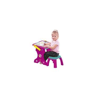 Imagem de Mesa 2 em 1 e Lousa Aprendizado Estúdio Arte Infantil Barbie C/ Acessórios 8428-4 Fun Divirta-se