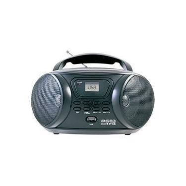 Som Portátil Britânia BS83 Rádio FM Entradas Aux/USB 3,4W Preto