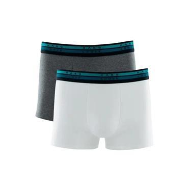 Kit 2 Cuecas Boxer Hang Loose Cotton Modal Cinza/branco
