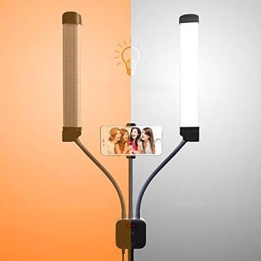 Iluminador Celular Foto Video LED Profissional Estudio Youtube USB Make
