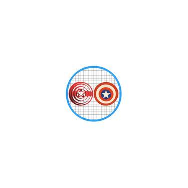 Imagem de Cortadores para pasta americana tema Escudo Capitão América