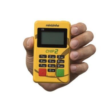 Minizinha Chip 2 Sem aluguel Aceita Débito, Crédito e Refeição 3G Cone