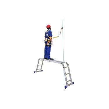 Escada Multifuncional Com Plataforma 4x3 Em Alumínio 12 Degraus Mor