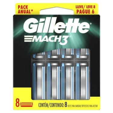 Imagem de Carga Para Aparelho De Barbear Gillette Mach3 Leve 8 Pague 6 - Mach 3