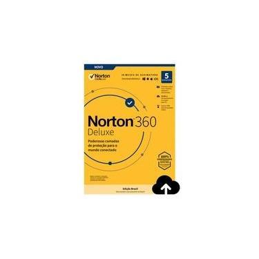 Norton Antivirus 360 Deluxe ND 50GB para 5 Dispositivos - Digital para Download - 21405601