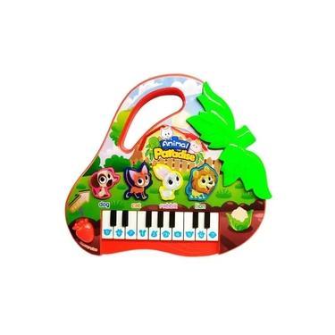 Imagem de Brinquedo Piano Teclado Infantil Bichos Musical Moranguinho VERDE