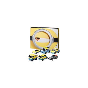 Imagem de Pacote de Minions Hot Wheels com 6 veículos em escala 1:64 com tema para Minions: Filme The Rise of Gru, Carros de Personagem, Presente para Idades de 3 anos ou mais Exclusivo da Amazon