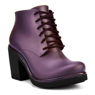 Bota Coturno Ankle Boot Ale Boa Onda By Cherry  Açai 37