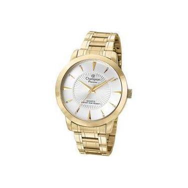 ddf96cf2514 Relógio Analógico Feminino Champion Fashion CN29258H Dourado - Pulseira de  Aço
