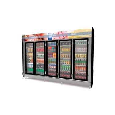 Refrigerador/Expositor Vertical Auto Serviço MASP -305 Preto - 5 Portas Polar Refrigeração 3.05m
