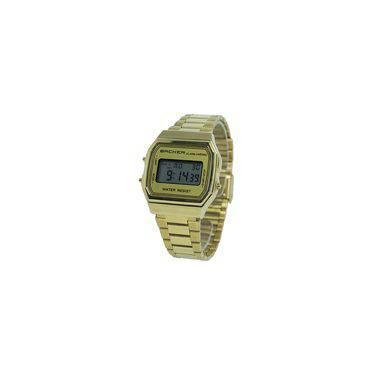 1be10a107da Relógio Masculino Backer Digital 15000475M - Dourado