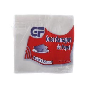 Guardanapo de Papel Folha Dupla 24 X 24cm Pacote com 50 Unidades Gf
