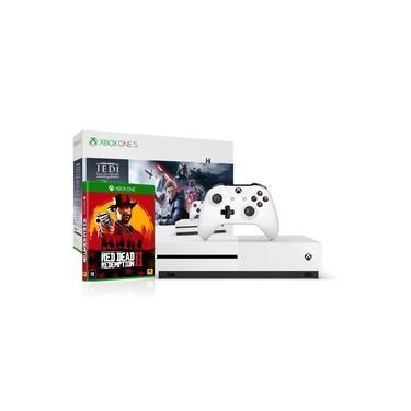 Xbox One S 1tb 4k 1 Controle Wireless Combo Star Wars Jedi e Red Dead 2 - Microsoft