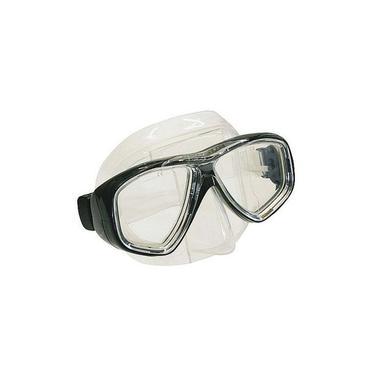 Máscara de Mergulho Seasub Splenda 3 - Preta com Silicone Transparente