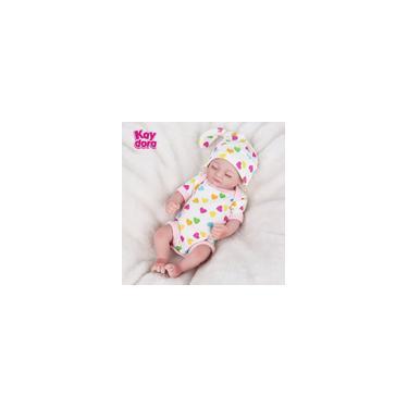 Imagem de Boneca Bebe Reborn Laura Baby 25 centimetros completa Silicone reborn Boneca Mini e reborn real boneca realistas banho