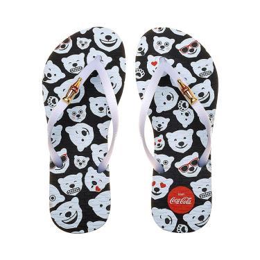 Chinelo Coca-Cola Polar Bear Emoji Feminino - Vermelho - 33-34