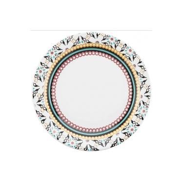 Prato Raso Ceramica 26cm Floreal Luiza Oxford