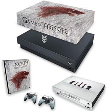 Capa Anti Poeira e Skin para Xbox One X - Game Of Thrones #A