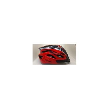 Imagem de Capacete Vicinitech Viseira/led 57-61cm Bike preto/prata/vermelho