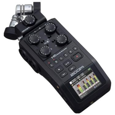 Gravador Portátil Zoom H6 Black Handy Recorder - Preto