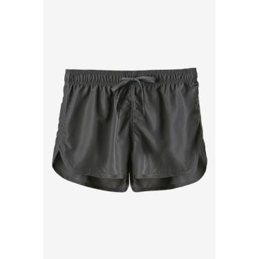Shorts Roxy Tactel Chumbo Avenida