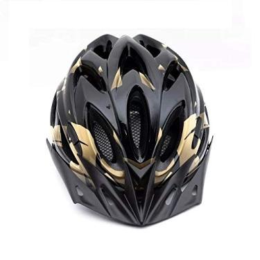 Imagem de Capacete Tsw Raptor 2 Com Led Preto Dourado Ciclismo Mtb Xc