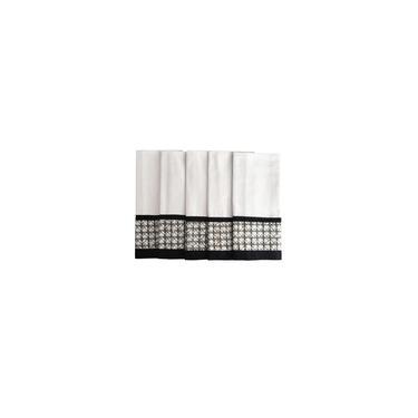 Imagem de Kit Pano de prato preto e branco com 5 unidades Lar em Cor