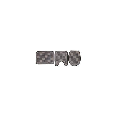 Imagem de Jogo De Tapete Para Banheiro 3 Peças 1214 B-Rayza - Colorido