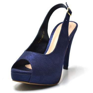 437c272c3 Sandália Salto Azul Plataforma Dafiti | Moda e Acessórios | Comparar ...