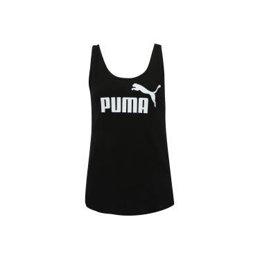 ebdaaa86da Camiseta Regata Puma Essentials Logo Tank - Feminina - PRETO Puma