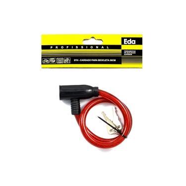 Cadeado para bicicleta com cabo de aço 50cm 9YH