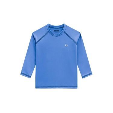 Camiseta Menino Manga Longa Proteção Uva Azul Luc.boo