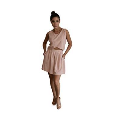 Shorts Daria Tamanho:36;Cor:Nude Rosé Rosa