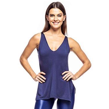 Imagem de Camiseta Regata Feminina Fitness Holist Fit Li Cor:Azul Marinho;Tamanho:M