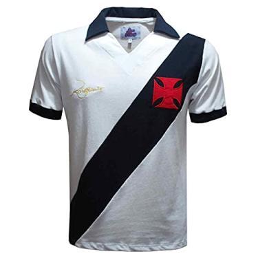 Imagem de Camisa Vasco Dinamite 1971 Liga Retrô Preta e Branca GGG