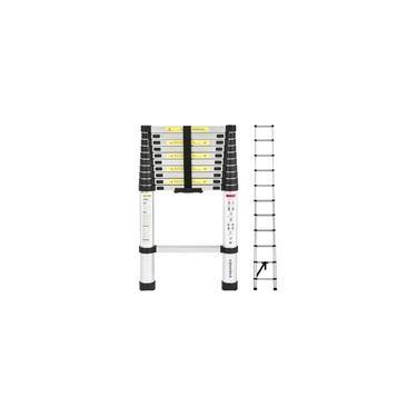 Escada Telescópica Extensiva De Alumínio 13 Degraus 3,8m 380