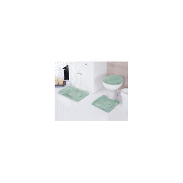 Imagem de Jogo de tapetes para banheiro Kit com 3 Peças Samara Asiatex