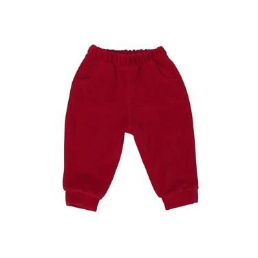 Calça Infantil Basic Vermelho Plush