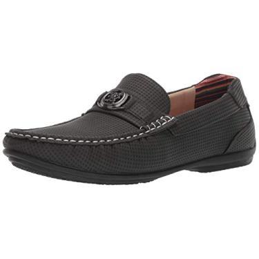 Sapato masculino de enfiar sem cadarço para dirigir da Stacy Adams, Charcoal, 10.5